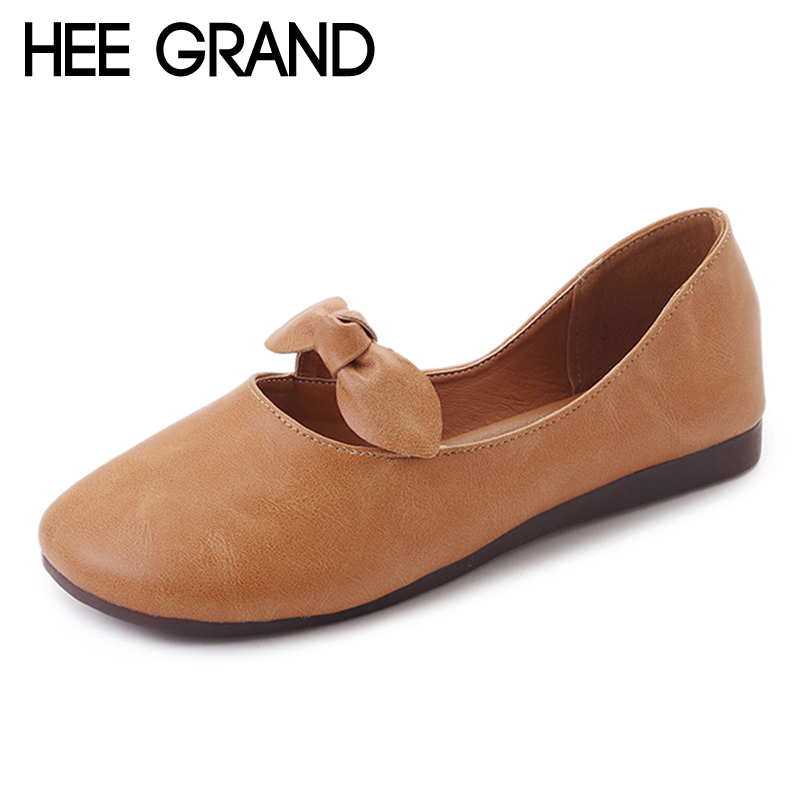 HEE GRAND Bowtie Women Shoes Casual Flats Slip On Loafers Buffterfly-Knot Soft Platform Shoes Woman 3 Colors Size 35-40 XWD6340 hee grand 2017 flip flops casual summer slides beach slip on flats platform bling fashion shoes woman slippers 4 colors xwt936