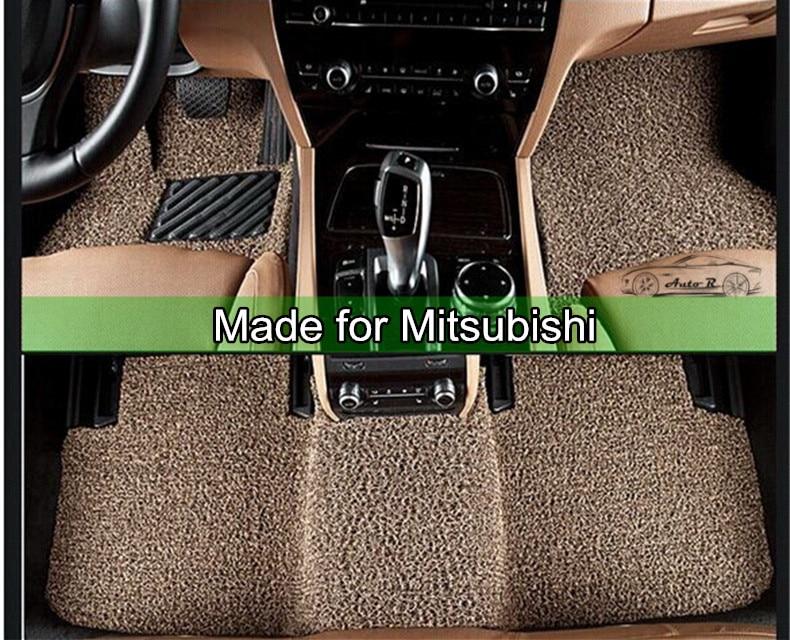PVC Coil Car Floor Mats for Mitsubishi Lancer ASX font b Pajero b font sport V73