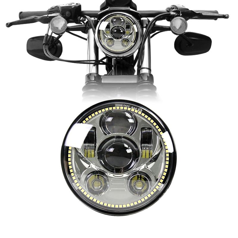 Chrome 45W 5.75inch led headlight