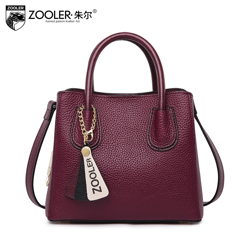 hot new &hot woman leather bag elegant style ZOOLER 2018 genuine leather bags handbag women famous brand bolsa feminina # Y106 sales zooler brand genuine leather bag shoulder bags handbag luxury top women bag trapeze 2018 new bolsa feminina b115