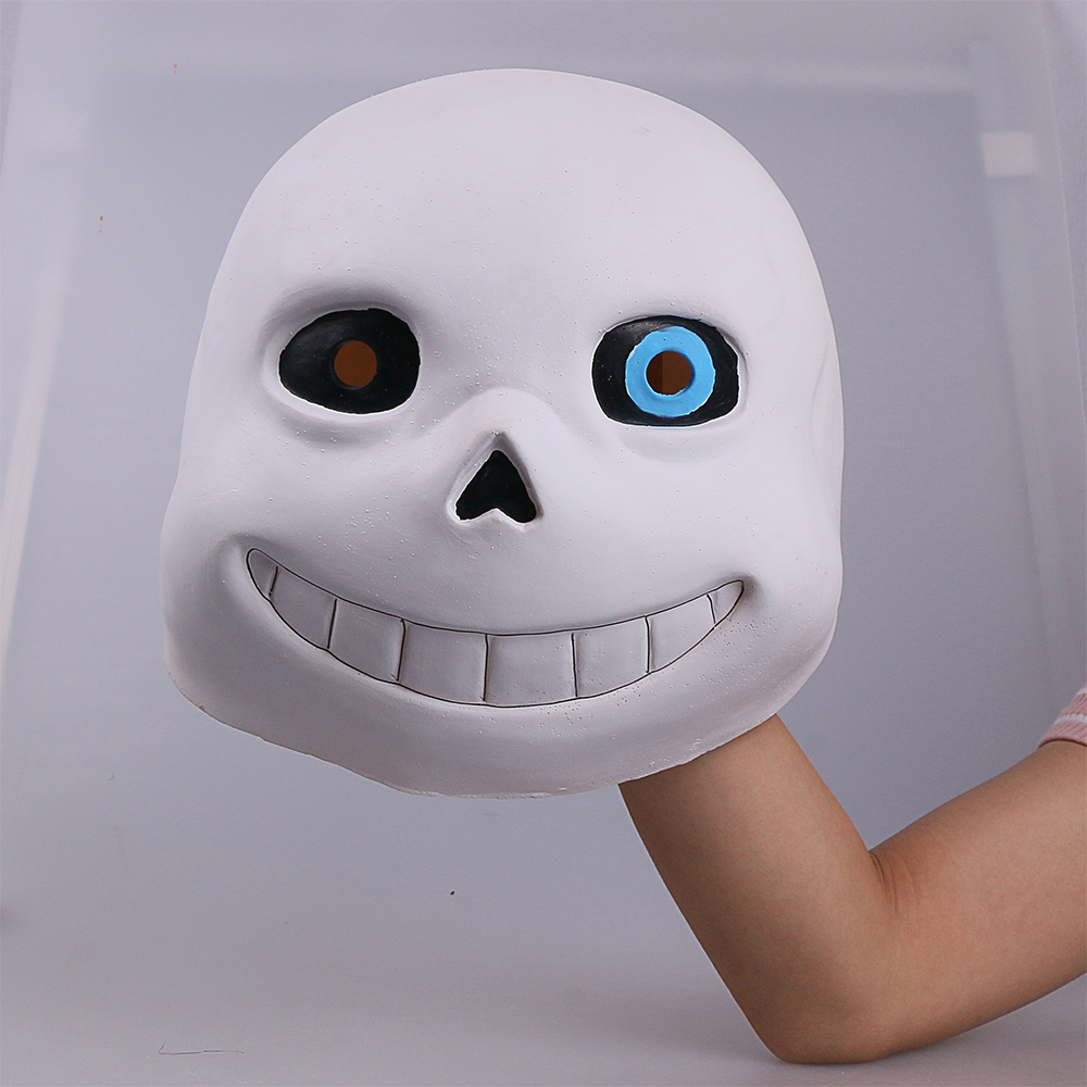 Full head Undertale Sans Latex Masks Cosplay Funny White Helmets Shores Of Halloween Party Fancy Christmas Balls (17)