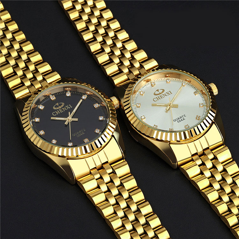 fashion quartz chenxi item watch rhinestone luxury business steel man dress casual gold full brand watches wrist unique stainless design golden male waterproof men