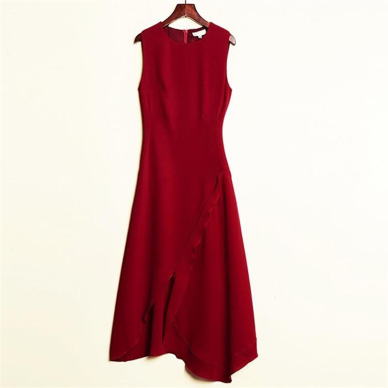 ad89697c379 Femmes-robe-2019-haute-qualit-t-Designer-piste-o-cou-sans-manches -mince-irr-guli-re.jpg