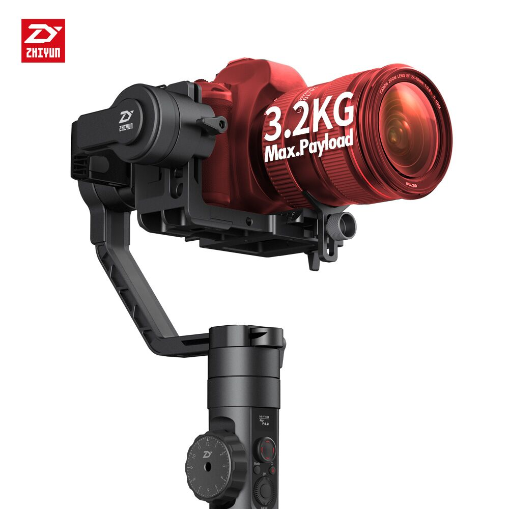 Newest Zhiyun Crane 2 3-Axis Handheld Gimbal Video Camera Gyro Stabilizer for DSLR with Follow Focus 3.2Kg Payload OLED Display professional dv camera crane jib 3m 6m 19 ft square for video camera filming with 2 axis motorized head