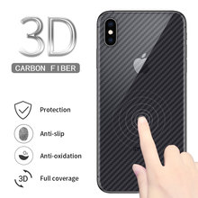3D Full Cover Carbon Fiber Screen Protector for iPhone X XS Max XR 8 7 6 6s Plus 5 5s SE Back Protective Film