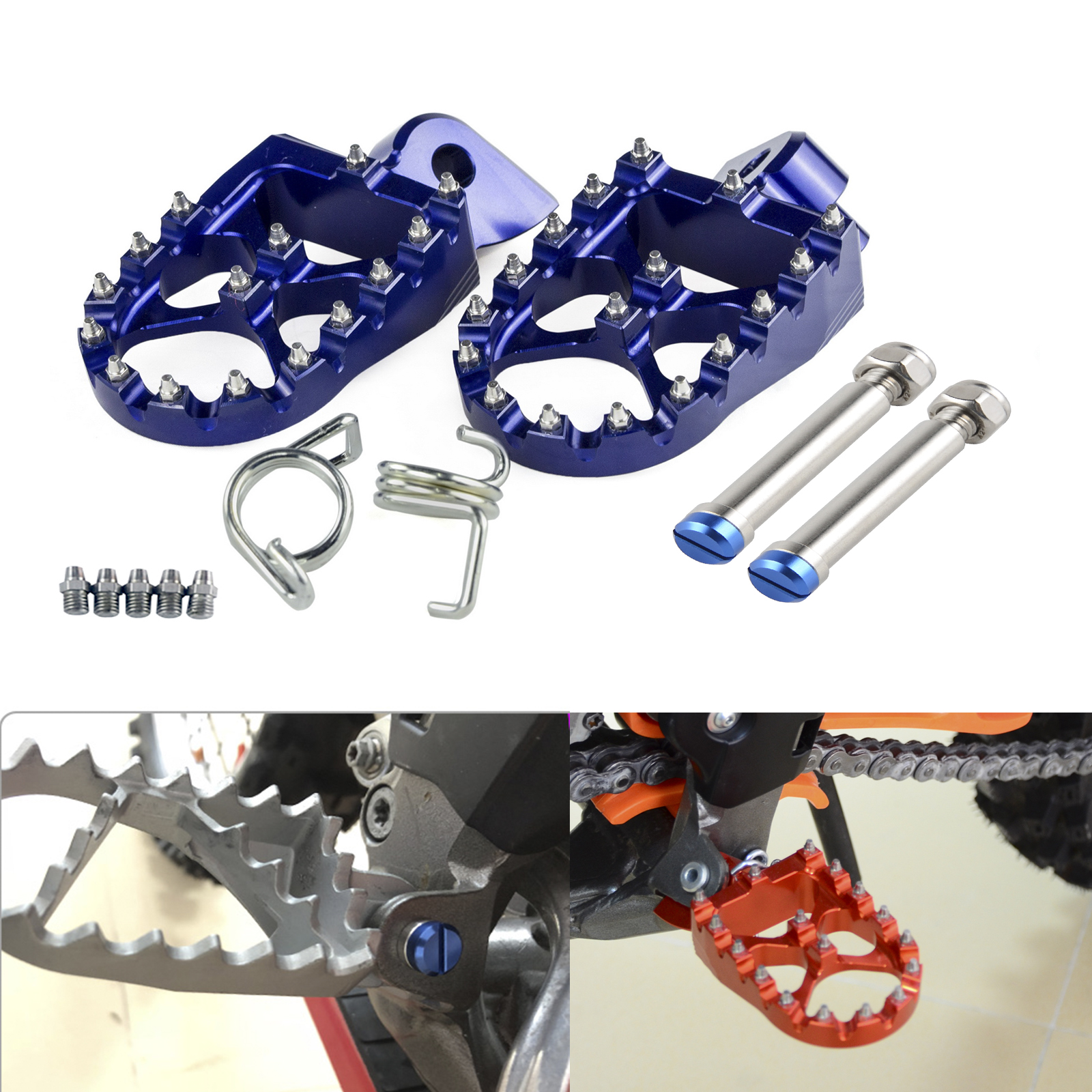Motorcycle Footrest Foot Pegs With Pins For <font><b>BETA</b></font> 250RR <font><b>300RR</b></font> 350RR 390RR 400RR 450RR 480RR 498RR 520RR 2T 4T 2013-2018 image