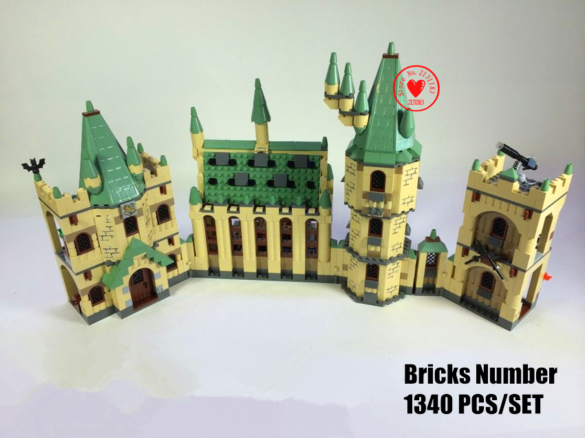 New The Hogwarts Castle Movies fit legoings harry potter Castle figures model Building Block Bricks 4842 gift kid diy toy boy