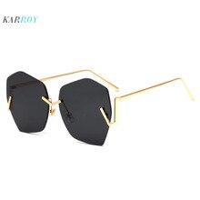 2019 New Arrival Metal Frameless UV400 Women Sunglasses Fashion Colorful Men Sun Glasses Eyeglasses