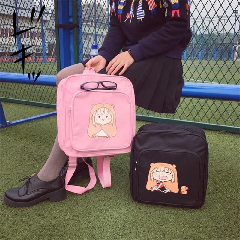 Anime Himouto! Umaru-chan Umaru Doma Japan Cosplay Preppy JK Schoolbag Girls Backpack Mochila Feminina Square School Rucksack