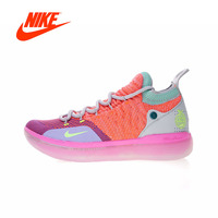 Original New Arrival Authentic Nike Zoom KD11 'EYBL' Men's   Basketball     Shoes   Sport Outdoor Sneakers Good Quality AO2604-600