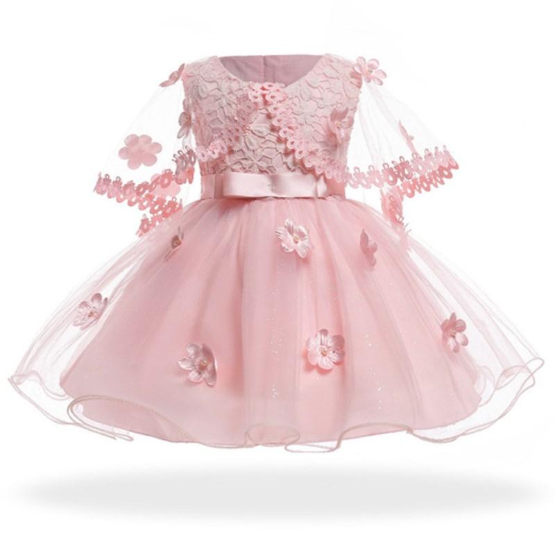 1745805ad Pudcoco niño niños Niña de vestido de encaje de alenzón Sleevelss vestido  de fiesta vestido de