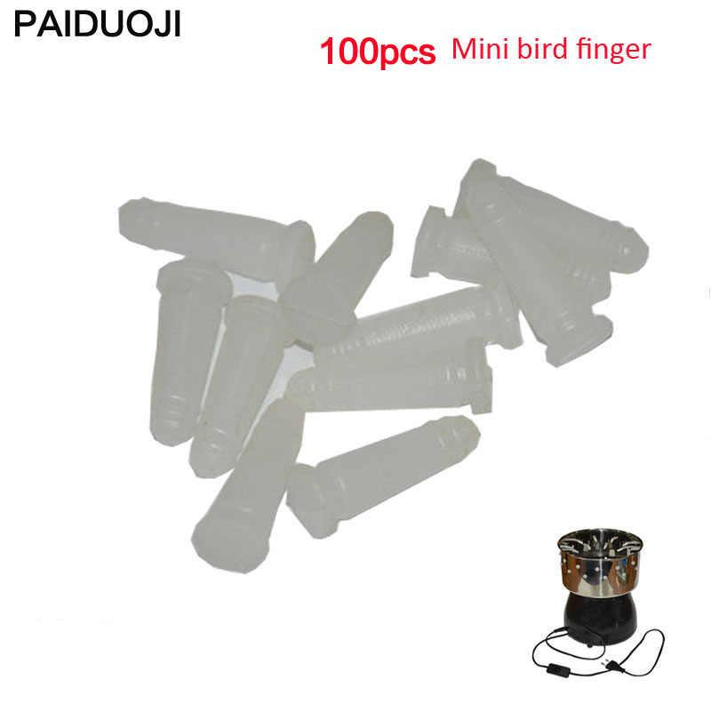 100 pces mini pássaro plucker dedo cola vara mini pássaro plucker aplicar para pequeno pássaro máquina de remoção do cabelo