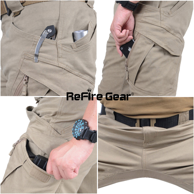 City Tactical Cargo Pants Combat SWAT Army Military Cotton Many Pockets Stretch Flexible Casual Trousers XXXL 5