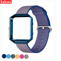 Nylon Banda Relógio de Pulso Pulseira de Aço Armação de Metal Para Fitbit Acessórios Chama Dispositivos Wearable Relógio Inteligente 6 Cores Pulseiras de Relógio