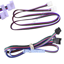 1pcs 1m 4pin JST extention cable connector/1m LED RGB wire extension cord connector for 5050 Strip Module Light
