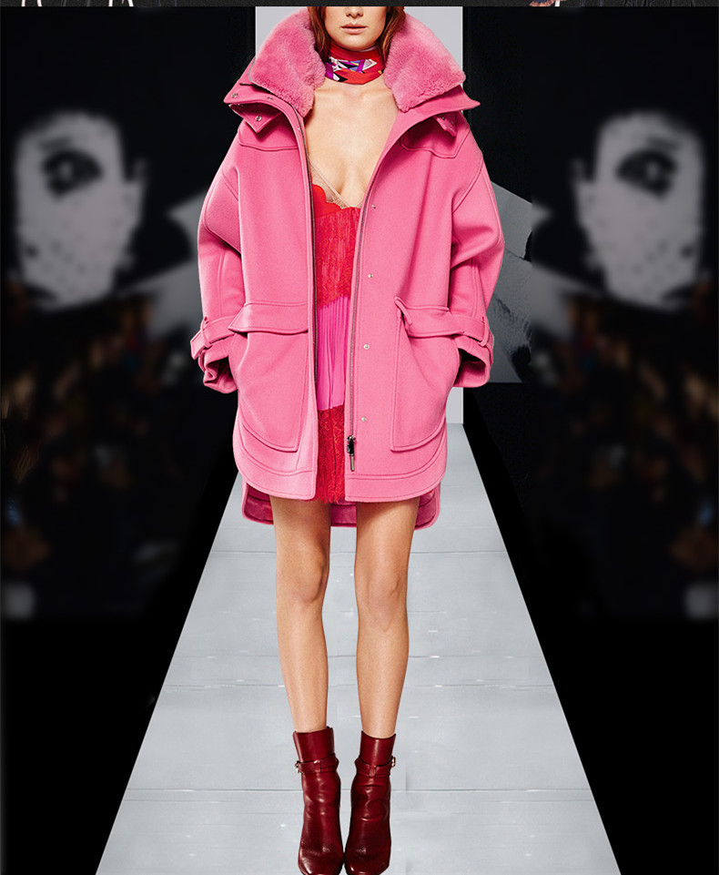 Online Buy Wholesale pink cape coat from China pink cape coat