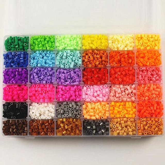5mm EVA Hama Beads Set Toy DIY Mini PUPUKOU Beads Tangram Jigsaw With Tools Hama Beads