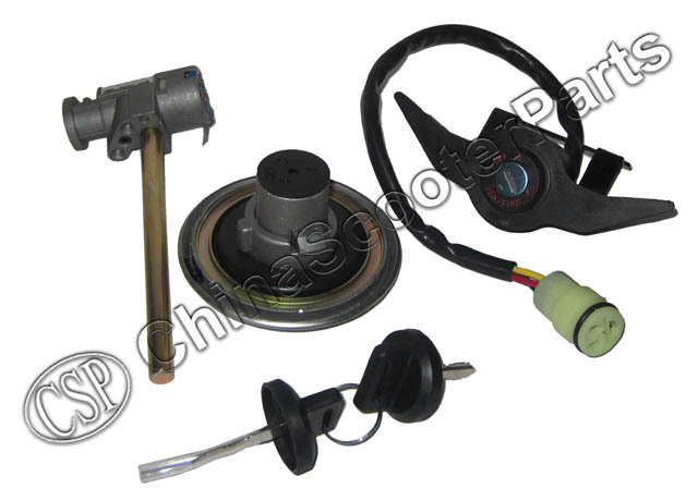 Complete lock kit and Gas tank Cap for Kazuma 500CC