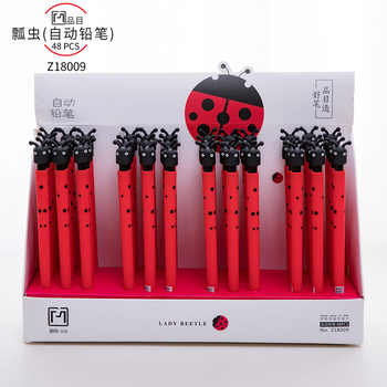 48pcs/1lot Kawaii Soft Gum ladybug press Mechanical Pencils School Office Supply Student Stationery Kids Gift Automatic Pencil - DISCOUNT ITEM  11% OFF All Category