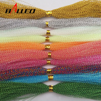 5Packs/ Fishing Tying Crystal  Twisted Flashabou Holographic Tinsel Fly Flash for Jig Hook Lure Making Material