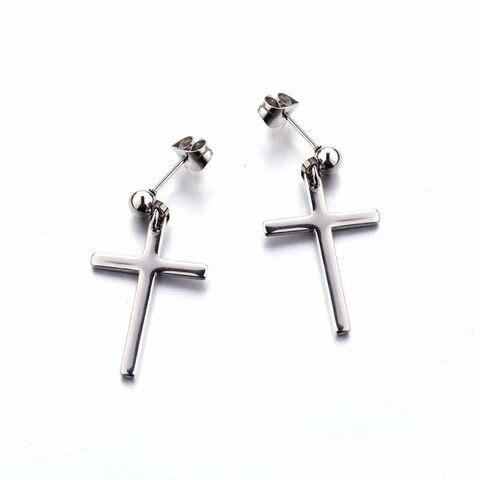 Купить серьги унисекс в виде креста подвеска для мужчин и женщин модные