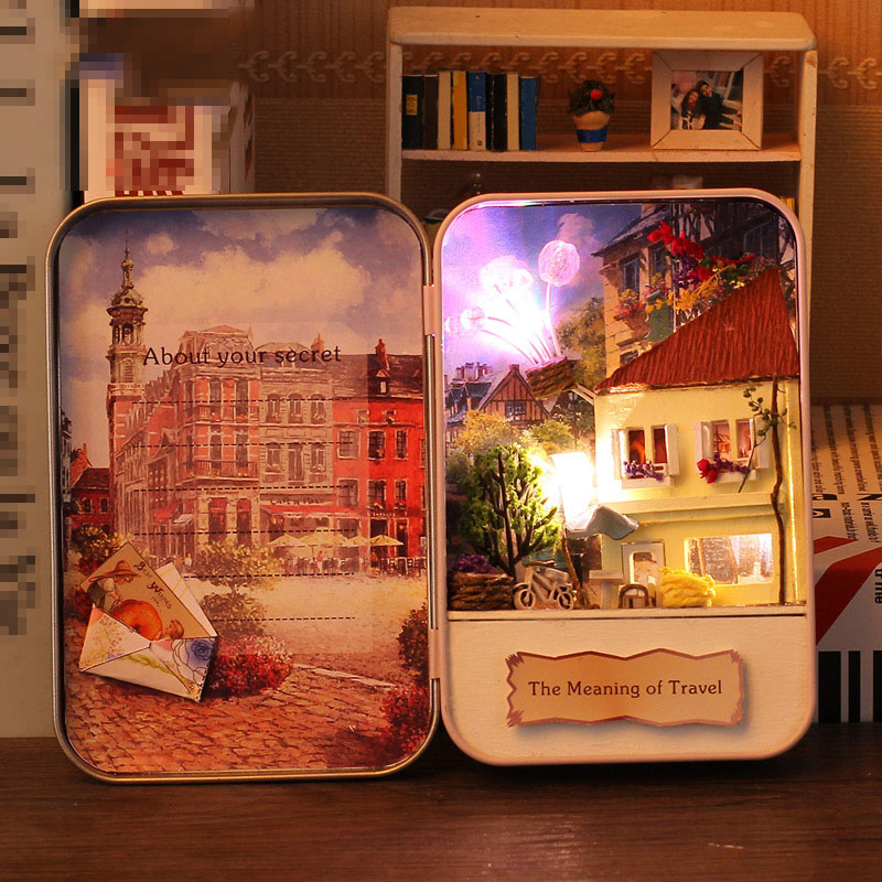 Meaning of Travel Box Theatre DIY 3D Dollhouse