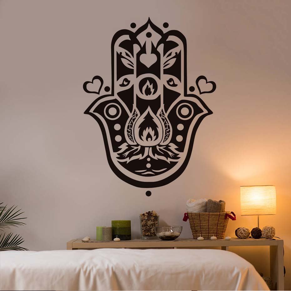 Main De Fatma Decoration Murale Dctop Main De Fatima Wall Sticker Art Home Decor Coeurs Amovible