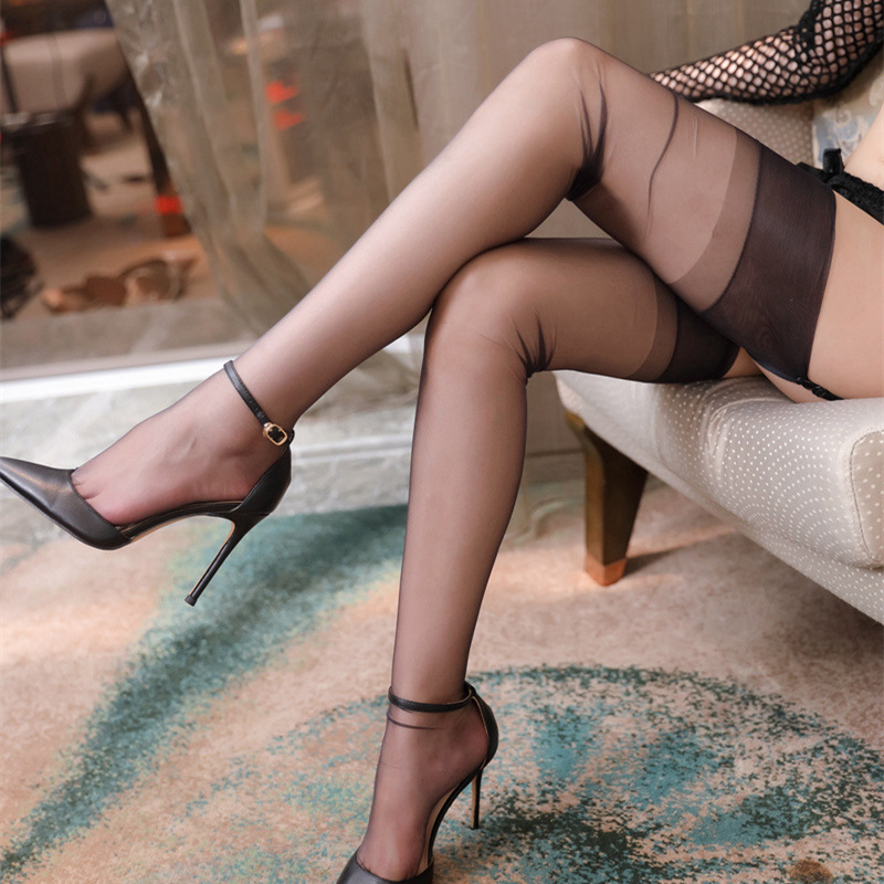 Прозрачные длинные нейлоновые чулки 5D, женское сексуальное нижнее белье, женские чулки до бедра в стиле ретро для подвязок, женские колготк...