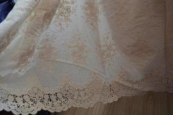5 ярдов хлопчатобумажная кружевная ткань с петельками в стиле ретро с цветочным узором, хлопковая кружевная ткань с петельками, белое хлопк