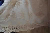 5yards cotton eyelet lace fabric with retro floral pattern, cotton eyelet lace fabric, off white cotton embroidered lace