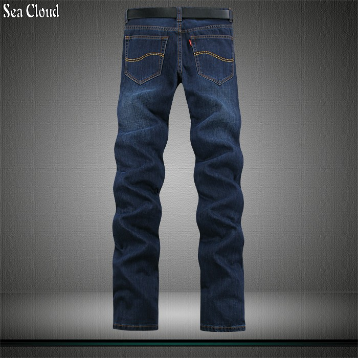 82 Free shipping size 28-44 plus length 125cm men jeans pants cotton male pants for heig ...