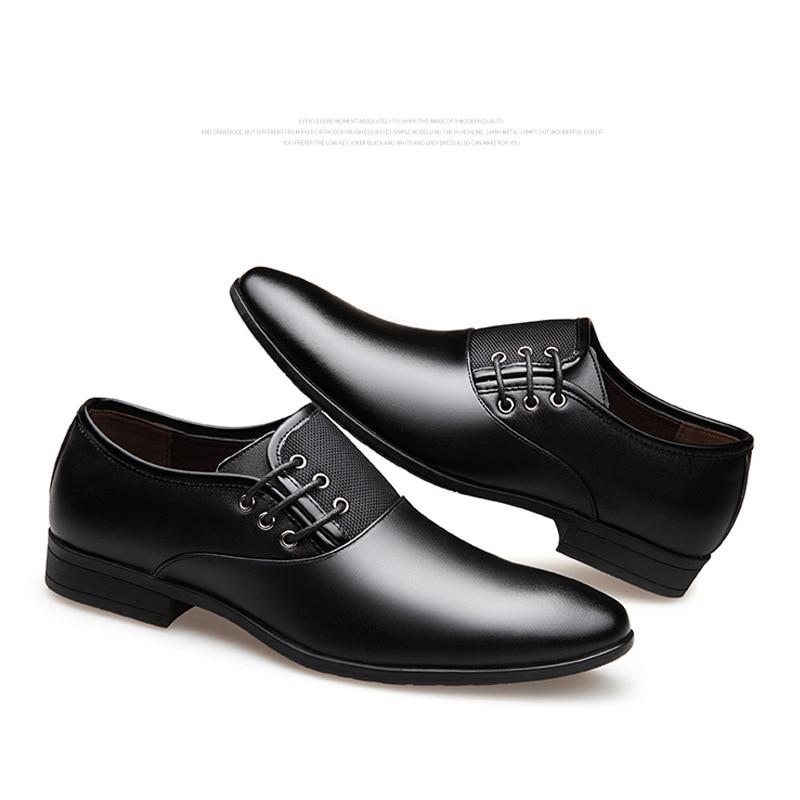 Black brown Casamento De Homens D Pontudos Outono Vestido Sapatos Luxo Mocassins Marrom Formal Primavera Preto Negócios qxf6w4nn