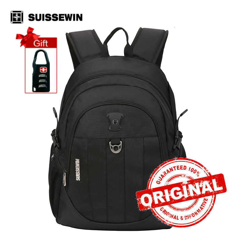 Suissewin Fashion School Bags for Teenage Small Printing Backpack Schoolbag Boys Bookbag mochila Korean Style Red Blue sn7027 free shipping korean version candy colors fairy tail logo printing man woman canvas schoolbag red green black blue backpacks