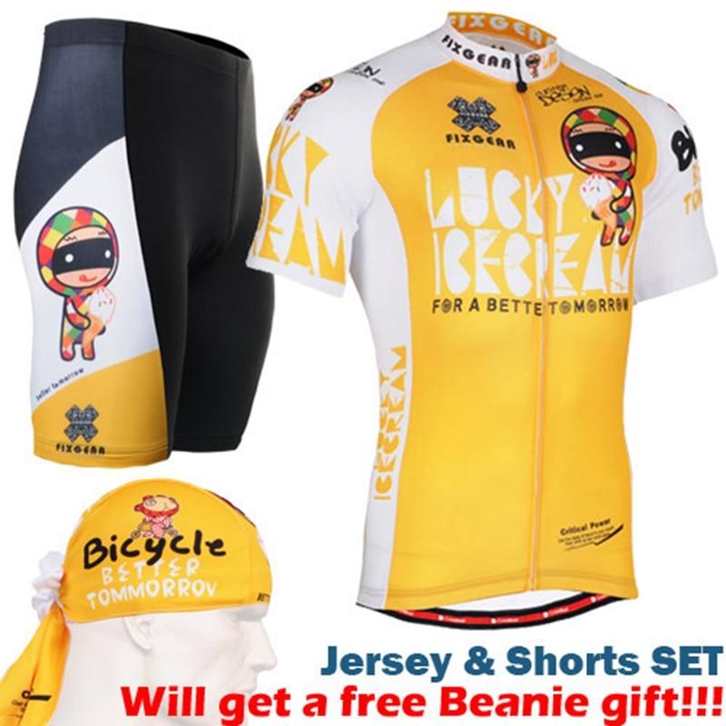 2017 Tour de France Racing Bike Cycling Clothing Cycle Sets Cycling Jersey/Breathable Mountain Bicycle Sportswear Yellow women s long cycling clothing mountain bike kit reflective cycle jersey