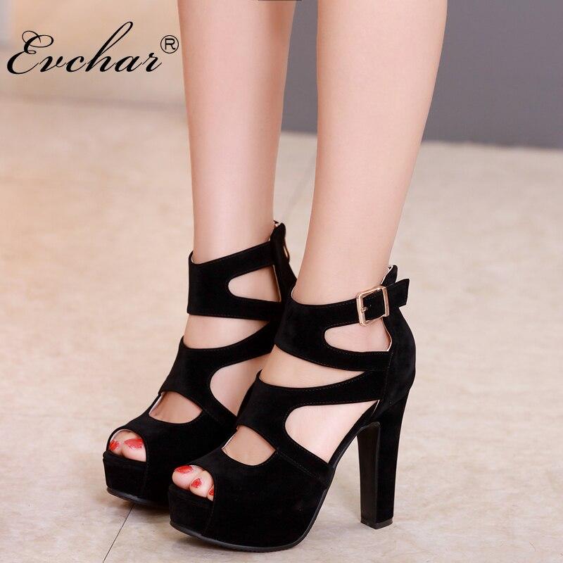 Модная Летняя женская обувь квадратный супер Высокие каблуки PU нубук кожа открытый носок женские туфли-лодочки пикантная обувь с вырезами ...