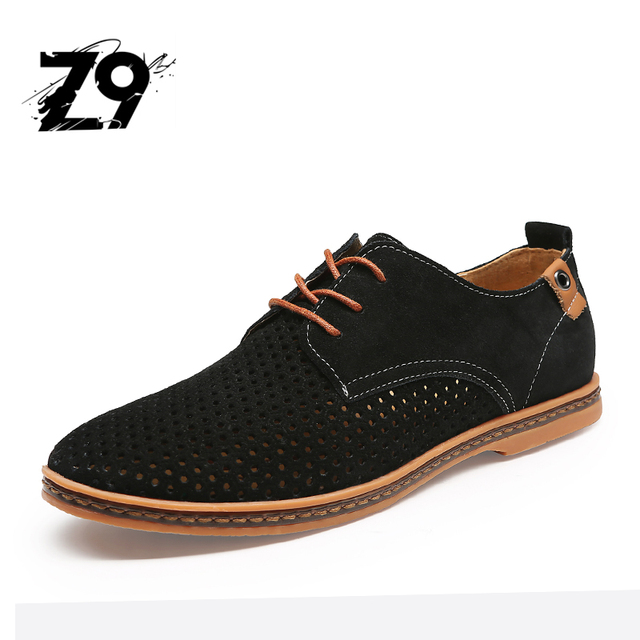 Top classic hot sale Men Shoes Casual cow suede  Flats Summer Breathable For Men Oxford Shoes Big Size 38-48