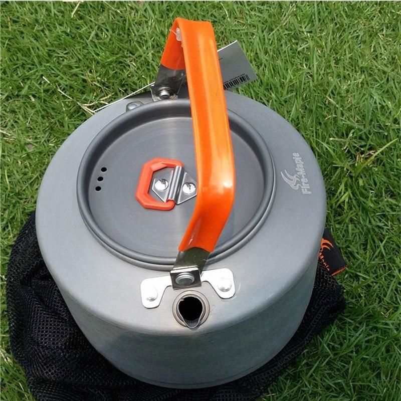 Открытый теплообменник чайник для кемпинга чайник Алюминий воды чайник для газовых Плита огонь клен fmc-t3
