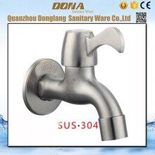 Livraison gratuite Le Plus Bas prix 304 en acier inoxydable bibcock avec brossé finition machine à laver mélangeur robinets