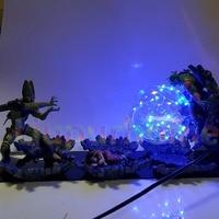 Dragon Ball Z Led Light Lamp Toys Cell VS Yamcha Piccolo Dragon Ball Super Cell Yamcha Piccolo Decorative Lighting