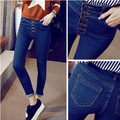 women fashion thin style jeans high waist elastic slim pencil pants  jeans for women free shipping