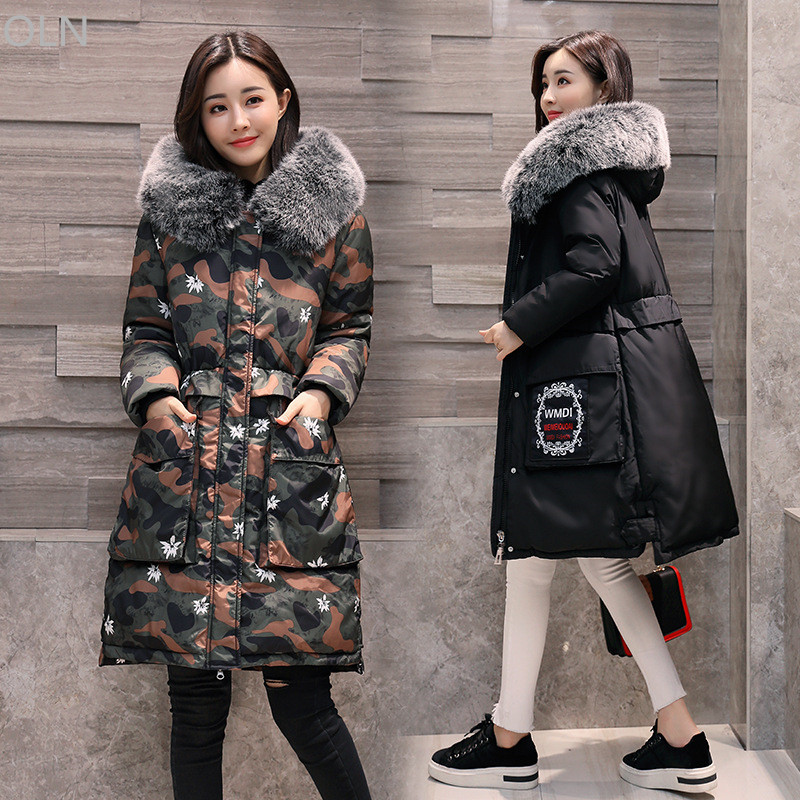 Cheap L-5XL Winter Jacket Women Faux Fur Hooded Thick Large Size Womens Jackets Female Coats Ladies Parkas manteau femme hiver womens winter coats jackets women parkas thick warm coat faux fur collar hooded down female coat ladies jacket manteau femme