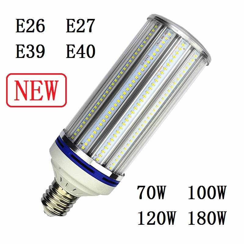 купить E27 E40 LED Bulb Light E26 E39 70W 100W 120W 180W street lighting 220v High Bright Corn Lamp for Warehouse Engineer Square 2pcs недорого