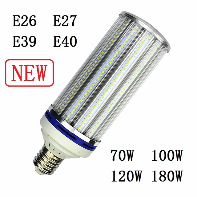 E27 E40 Led Bulb Light E26 E39 70w 100w 120w 180w Street Lighting 220v High Bright Corn Lamp For Warehouse Engineer Square 2pcs