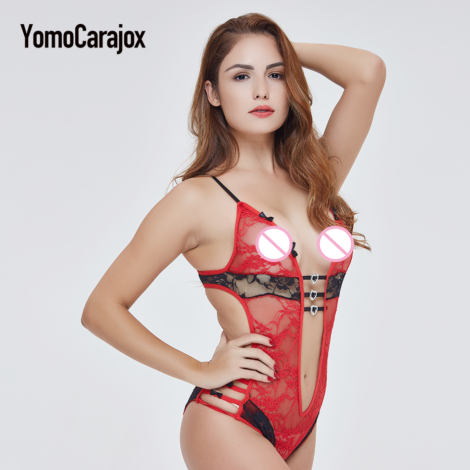 Fashion Hot Sale Sex Product Sexy Costumes Women Underwear Lady Sexy Lingerie Transparent Conjoined Dress Suit Leotard Intimates 10