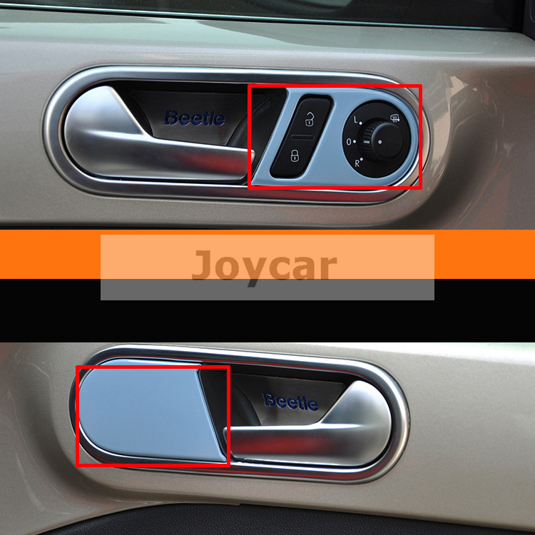 car interior door handle cover frame lock switch trim sticker for 13 15 vw beetle auto. Black Bedroom Furniture Sets. Home Design Ideas