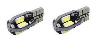 2 шт. T10 8LED 12 В <font><b>W5W</b></font> 4 Вт 6500 К автомобили от canbus светоизлучающих Диоды 3030 независимых 8 светодиодные лампы без ошибок Унив Era авто лампы