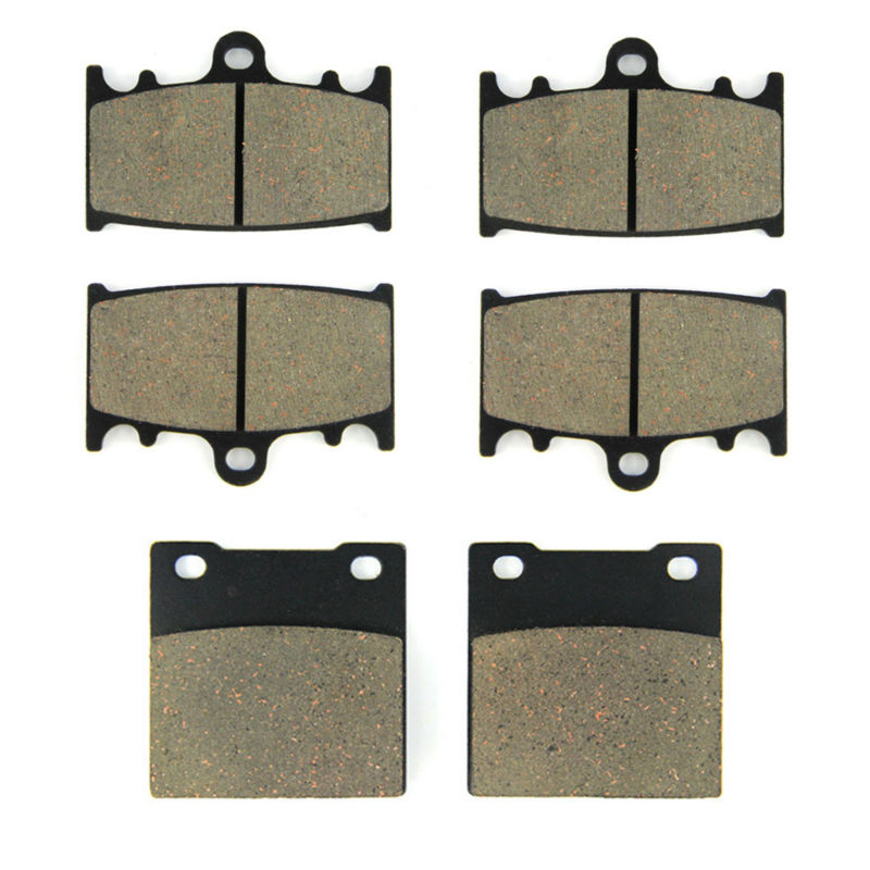 SOMMET Motorcycle Front + Rear Brake Pads Disks for Suzuki TL <font><b>1000</b></font> S (97-01) TL1000S TL1000 S LT158-158-<font><b>63</b></font> image