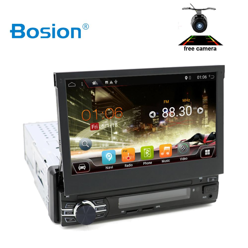 7 Universal Car Radio 1Din Audio Stereo Multimedia Touchscreen Universal GPS Navigation autoradio Stereo Audio BT