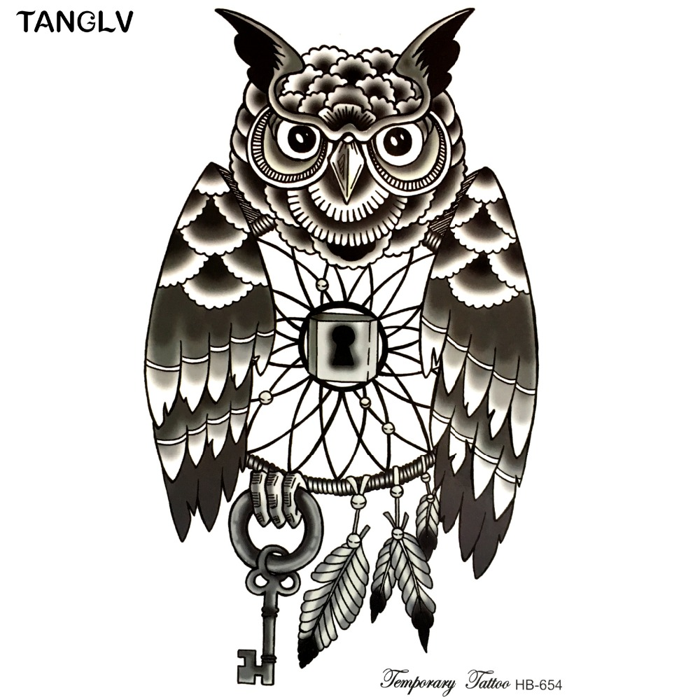 Tanglv New Simple Design Black And White Owl 21 X 15 Cm Sized Sexy