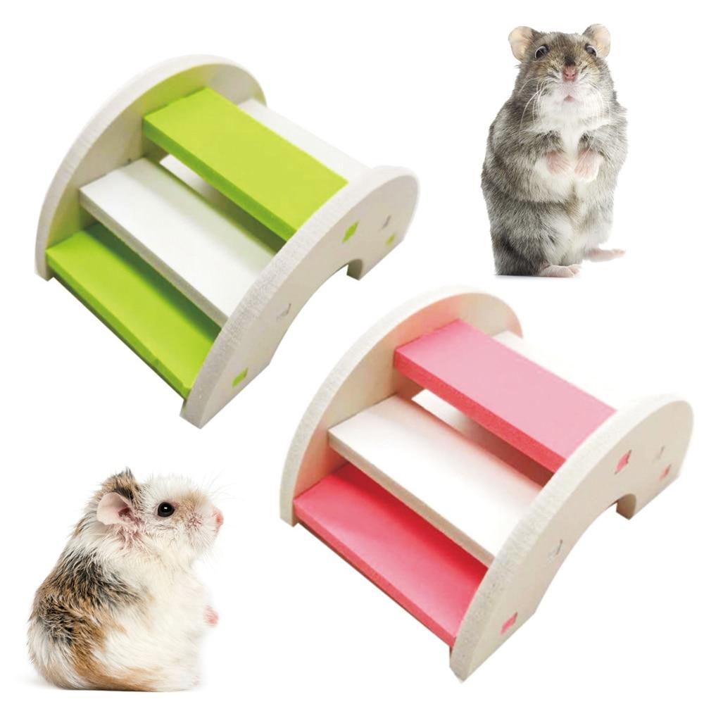 Hamster Toy Wooden Bridge Supplies Eco-friendly